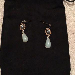 Jewelry - Vintage inspired light pale blue earrings